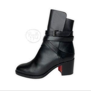 Christian Louboutin Karistrap Bootie Black Leather